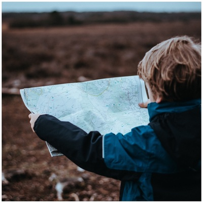 boy with map